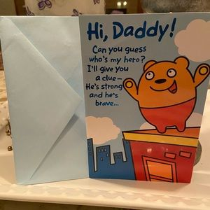 3/$5 Father's Day Dad Daddy Card Superhero
